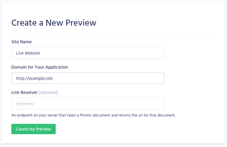 In-Website Preview with Vue js - Prismic